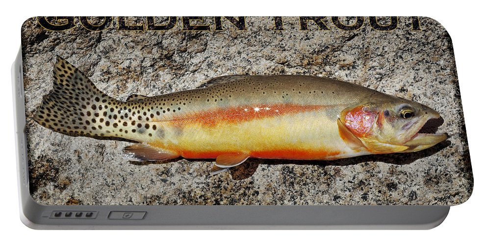 Golden Trout Portable Battery Charger featuring the photograph Golden Trout by Kelley King