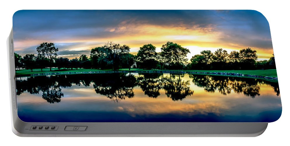 Golf Course Portable Battery Charger featuring the photograph Golf Course Panorama by Amel Dizdarevic