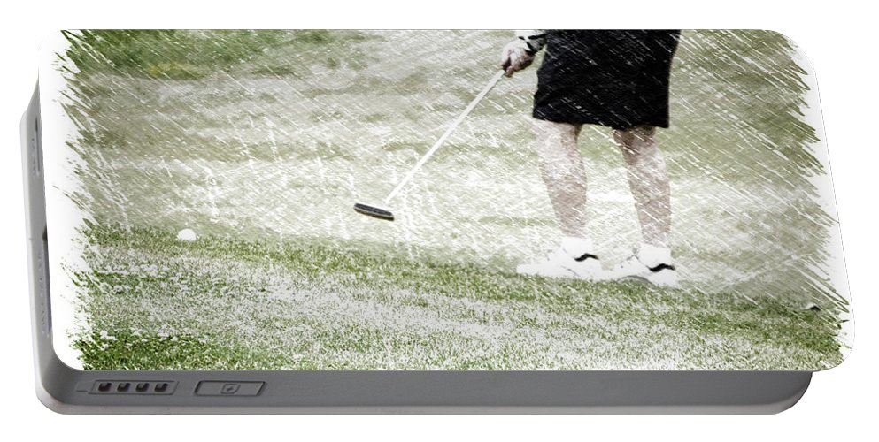New York Portable Battery Charger featuring the photograph Golfing Putting The Ball 01 Pa by Thomas Woolworth