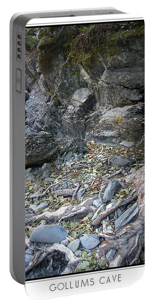Trees Portable Battery Charger featuring the photograph Gollum's Cave by Karen W Meyer