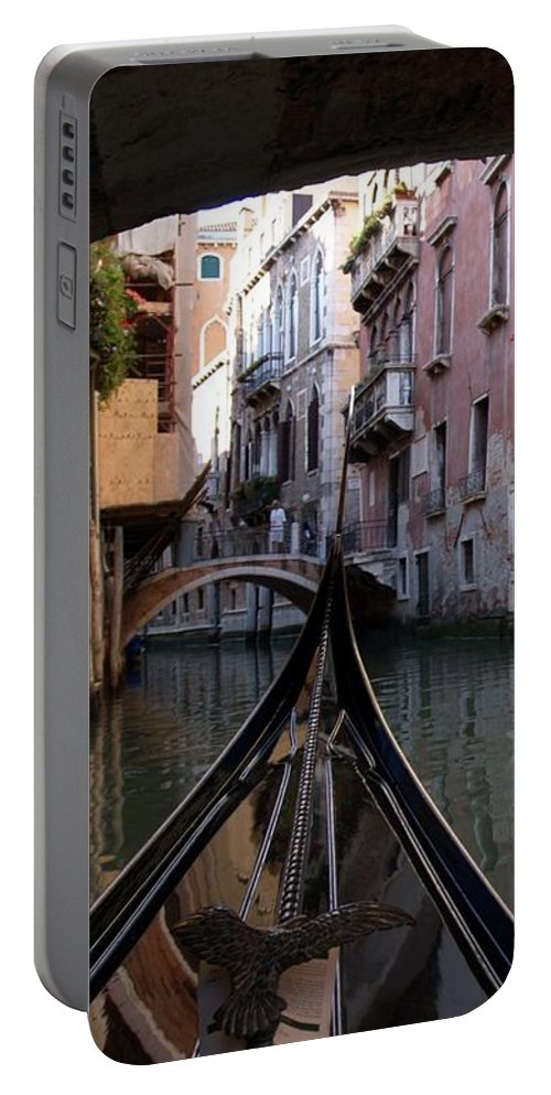 Gondola Portable Battery Charger featuring the photograph Gondola Ride by Rhoda Gerig