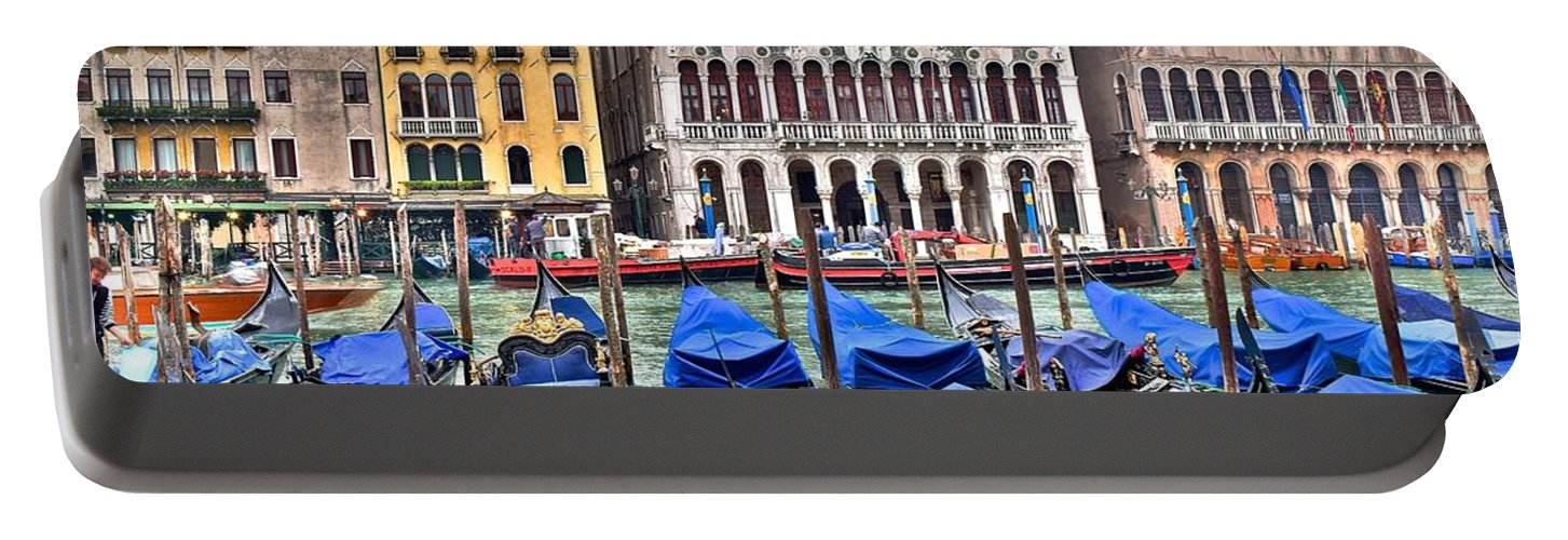 Gondolas Portable Battery Charger featuring the photograph Gondolas Galore by Frozen in Time Fine Art Photography