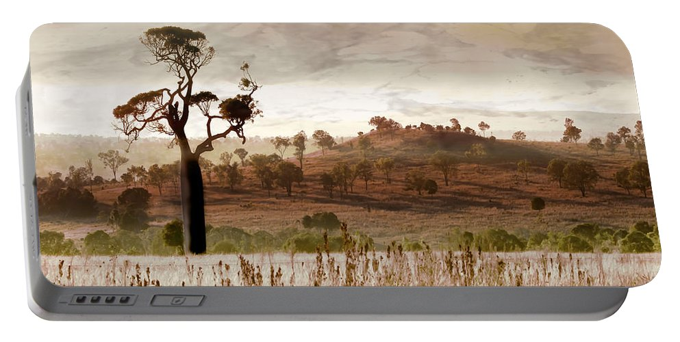 Landscapes Portable Battery Charger featuring the photograph Gondwana Boab by Holly Kempe