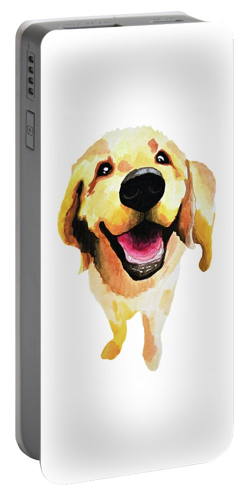 Dog Portable Battery Charger featuring the painting Good Boy by Amy Giacomelli