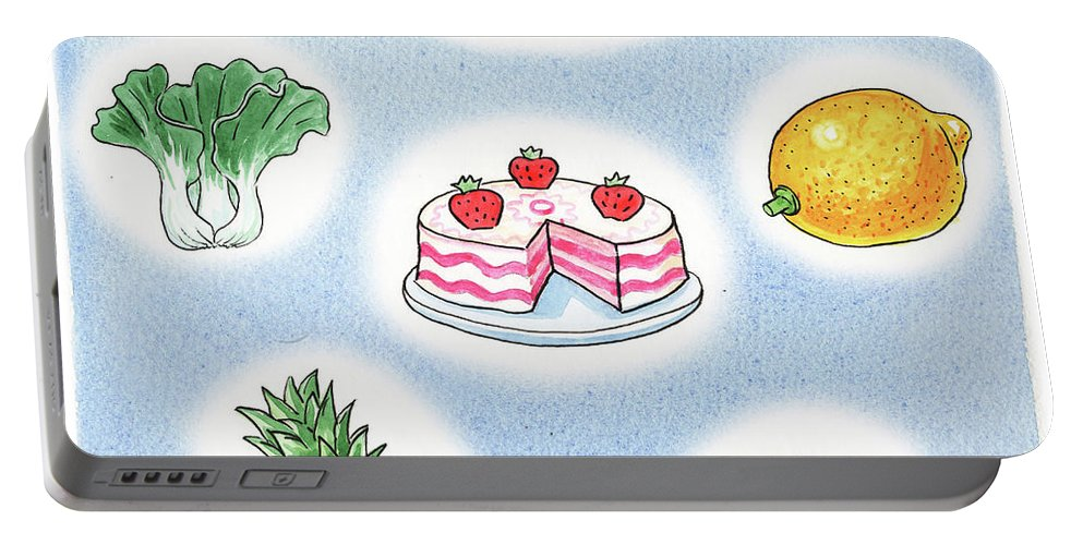 Good Food Portable Battery Charger featuring the painting Good Food by Irina Sztukowski
