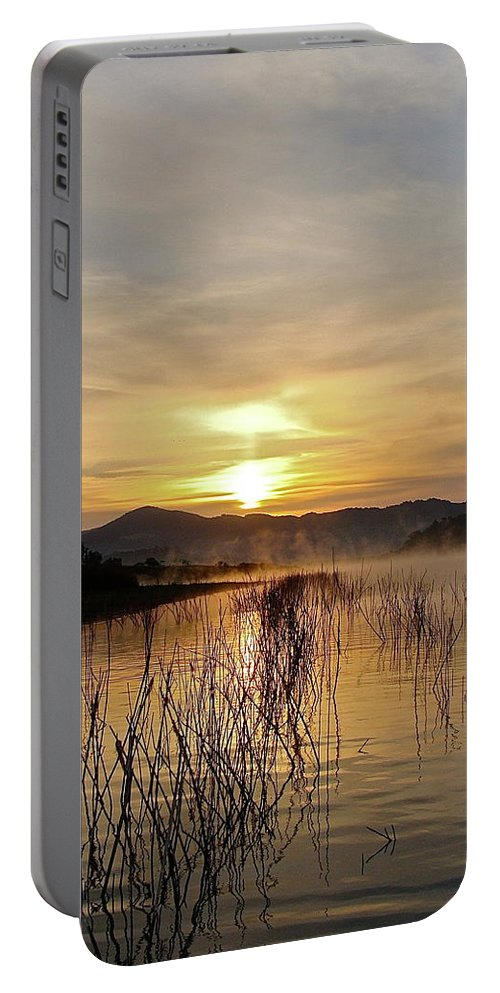 Water Portable Battery Charger featuring the photograph Good Morning  God by Diana Hatcher