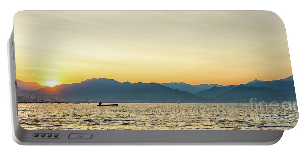 Fisherman Portable Battery Charger featuring the photograph Good Morning Sunshine by Marilyn Nieves