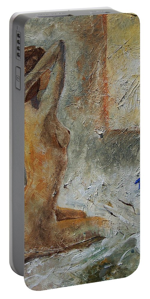 Nude Portable Battery Charger featuring the painting Good Morning Sunshine by Pol Ledent