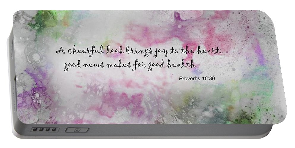 Inspiration Portable Battery Charger featuring the photograph Good News Produces Good Health by Allen Beilschmidt