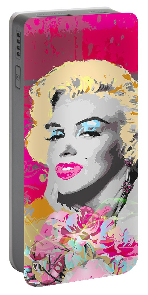 Marilyn Monroe Portable Battery Charger featuring the digital art Goodbye Norma Jean by Eleni Mac Synodinos