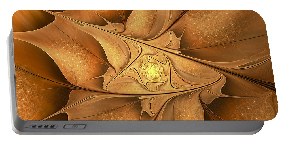 Fractal Portable Battery Charger featuring the digital art Goodbye Summer-welcome Autumn by Amorina Ashton