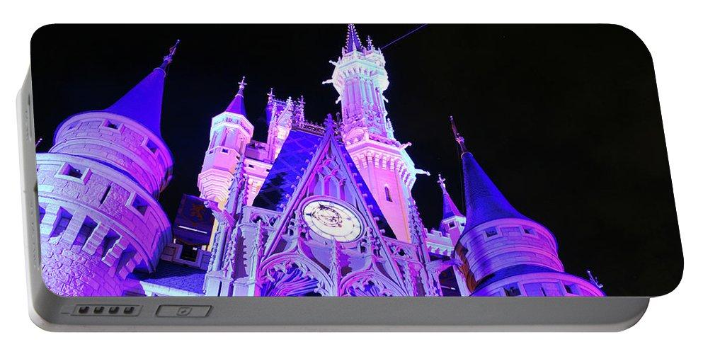Walt Disney World Portable Battery Charger featuring the photograph Goodnight Cinderella by Devon Disneyland