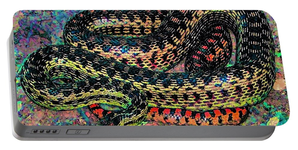 Nature Portable Battery Charger featuring the photograph Gopher Snake by Pamela Cooper