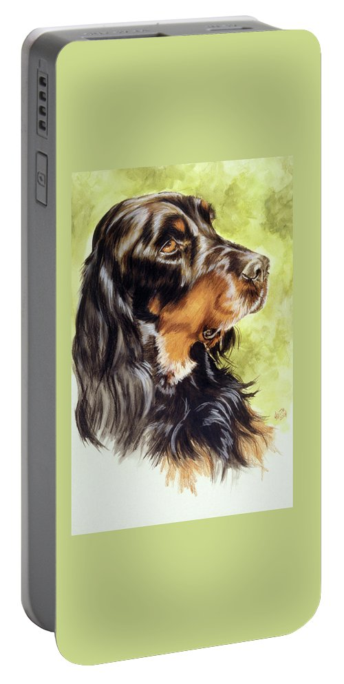 Sporting Group Portable Battery Charger featuring the painting Gordon Setter by Barbara Keith