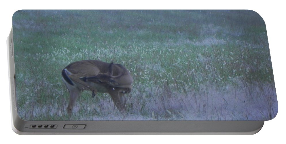 Deer Portable Battery Charger featuring the photograph Got An Itch by Cathy Christian