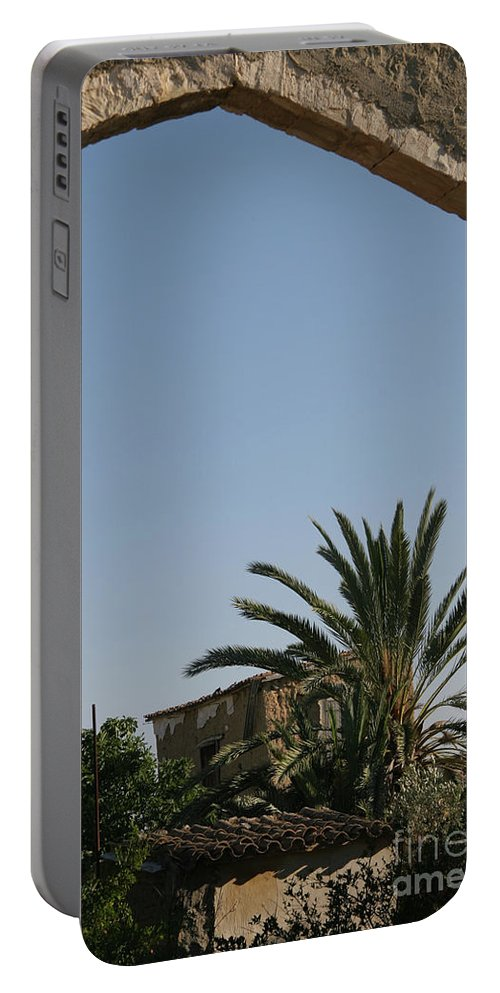 Cyprus Portable Battery Charger featuring the photograph Gothic Gate Cyprus by Clay Cofer