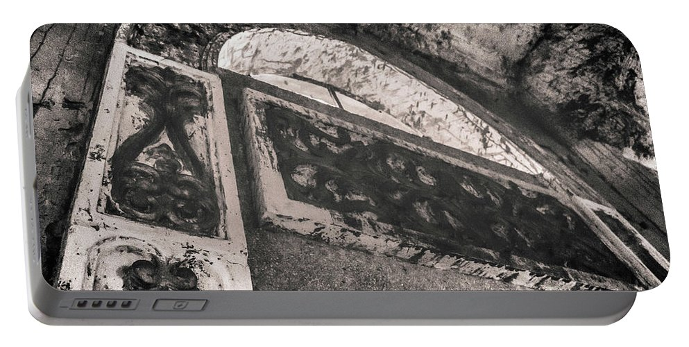 Black Portable Battery Charger featuring the photograph Gothica by Donald Carr