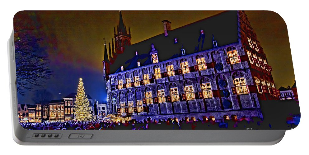 Gouda Portable Battery Charger featuring the photograph Gouda By Candlelight-1 by Casper Cammeraat