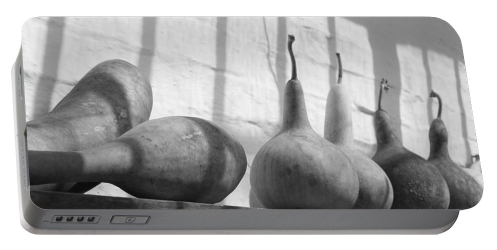 Gourds Portable Battery Charger featuring the photograph Gourds On A Shelf by Lauri Novak