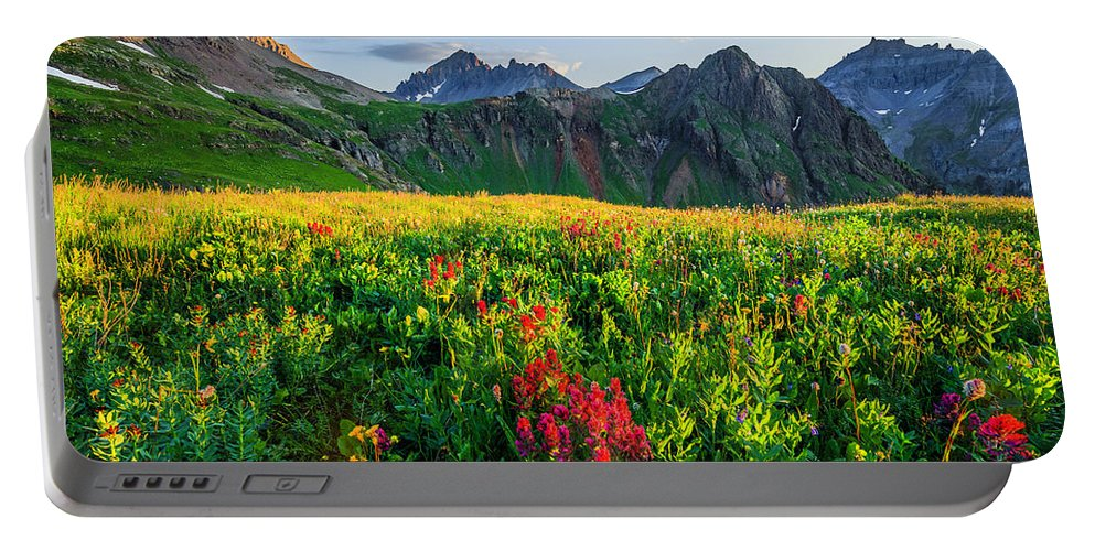 Landscape Portable Battery Charger featuring the photograph Governor's Basin In Bloom by Wick Smith