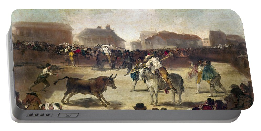 1793 Portable Battery Charger featuring the photograph Goya: Bullfight, 1793 by Granger