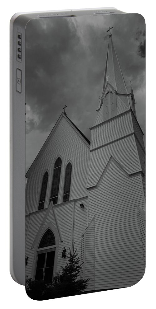 white Mountains Of New Hampshire Portable Battery Charger featuring the photograph Grace In Black And White by Paul Mangold