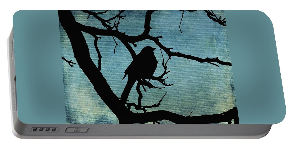 Grackle Portable Battery Charger featuring the digital art Grackle by Cassie Peters