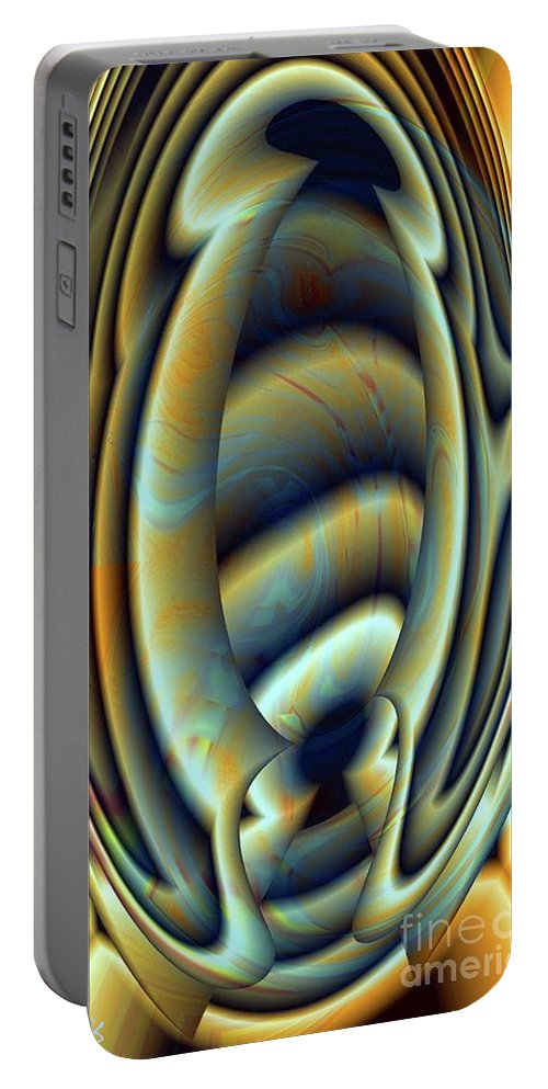 Gradient Portable Battery Charger featuring the digital art Gradient Series 2 by Ron Bissett