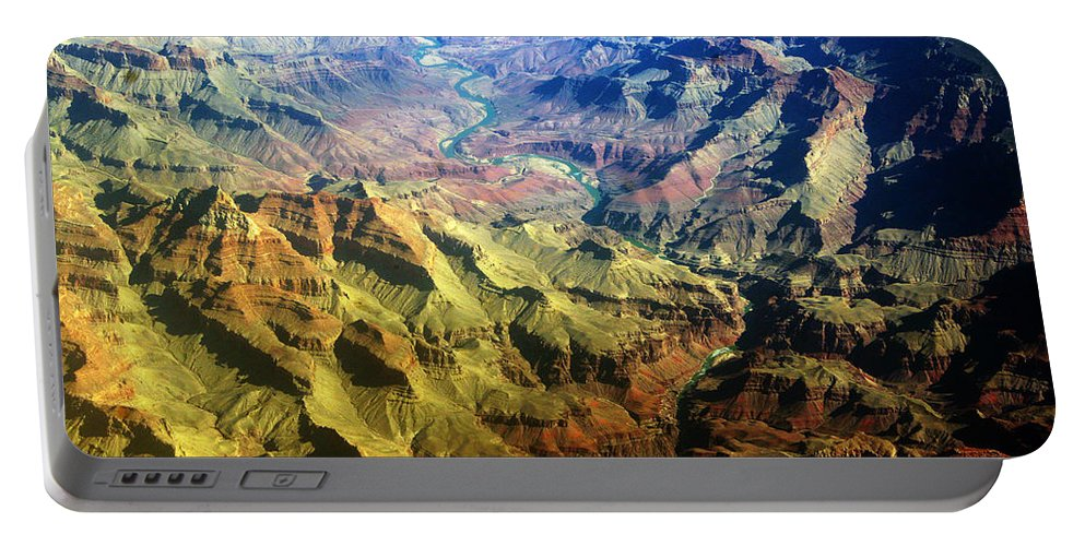 Grand Canyon; Canyons; Coloful; Nature; Landscapes; Arizona Portable Battery Charger featuring the photograph Grand Canyon Aerial View by James BO Insogna
