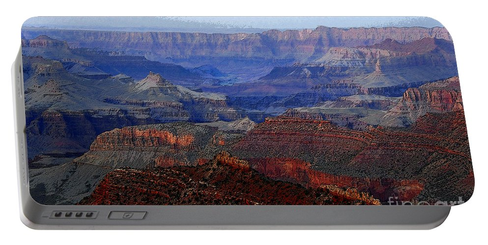 Art Portable Battery Charger featuring the digital art Grand Canyon Arizona by David Lee Thompson