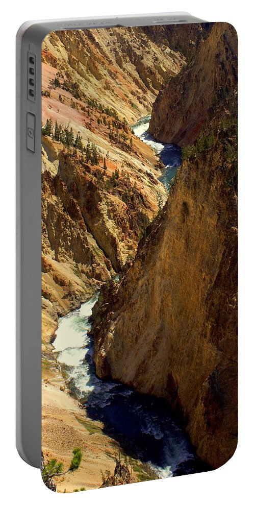 Yellowstone River Portable Battery Charger featuring the photograph Grand Canyon Of The Yellowstone 2 by Marty Koch