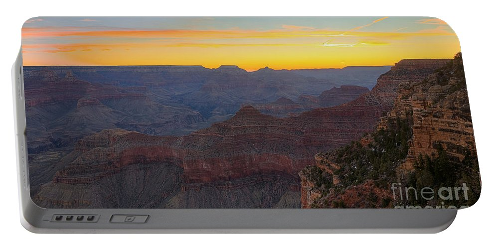 Grand Canyon Portable Battery Charger featuring the photograph Grand Canyon Twilght by James Anderson