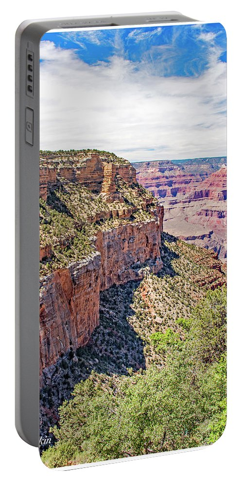 Grand Canyon National Park Portable Battery Charger featuring the photograph Grand Canyon, View From South Rim by A Gurmankin
