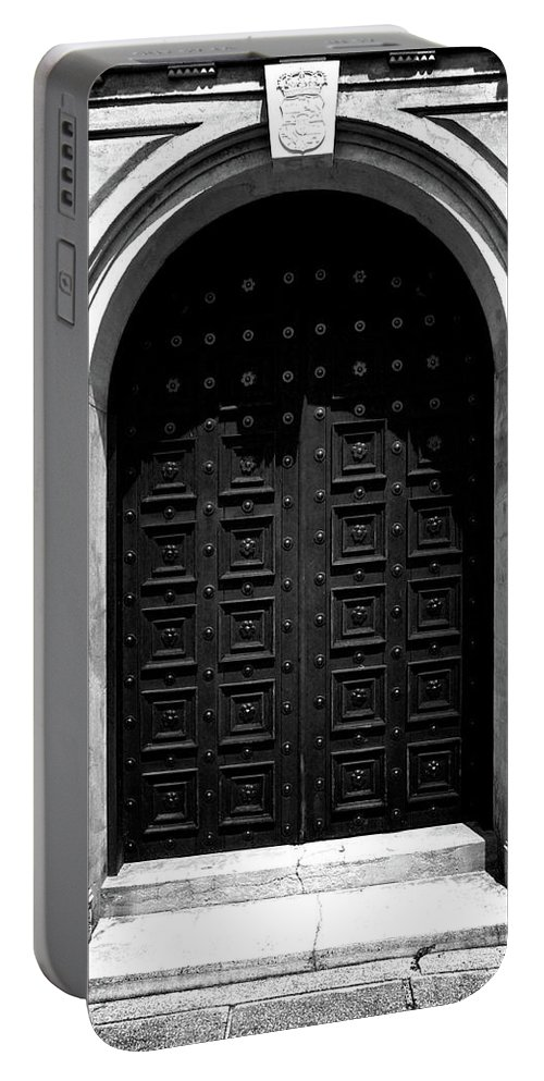 Doors Portable Battery Charger featuring the photograph Grand Entrance by Brandon Addis