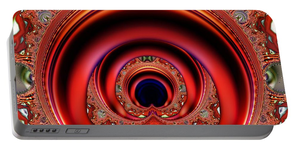 Fractal Portable Battery Charger featuring the digital art Grand Entrance by Ron Bissett