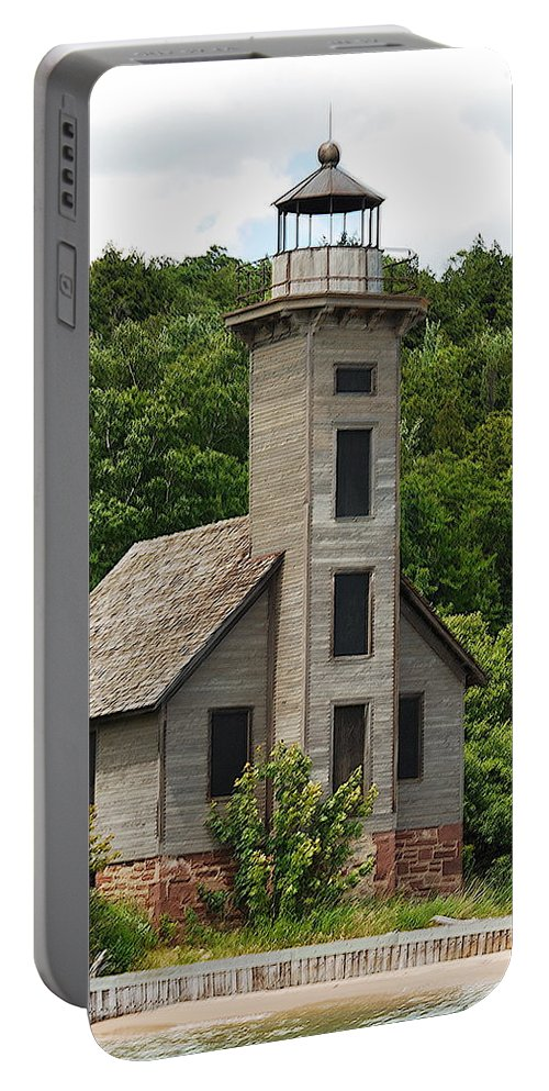 Grand Island Lighthouse Portable Battery Charger featuring the photograph Grand Island Lighthouse by Michael Peychich