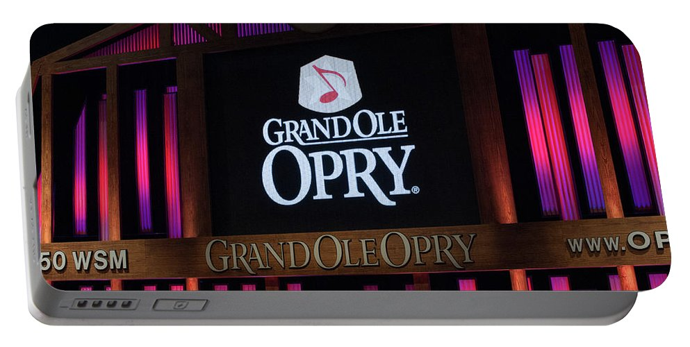 Grand Portable Battery Charger featuring the photograph Grand Ole Opry House In Nashville, Tennessee. by Timothy Wildey