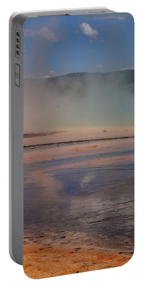 Landscape Portable Battery Charger featuring the photograph Grand Prismatic In Yellowstone Park by Josie Spencer