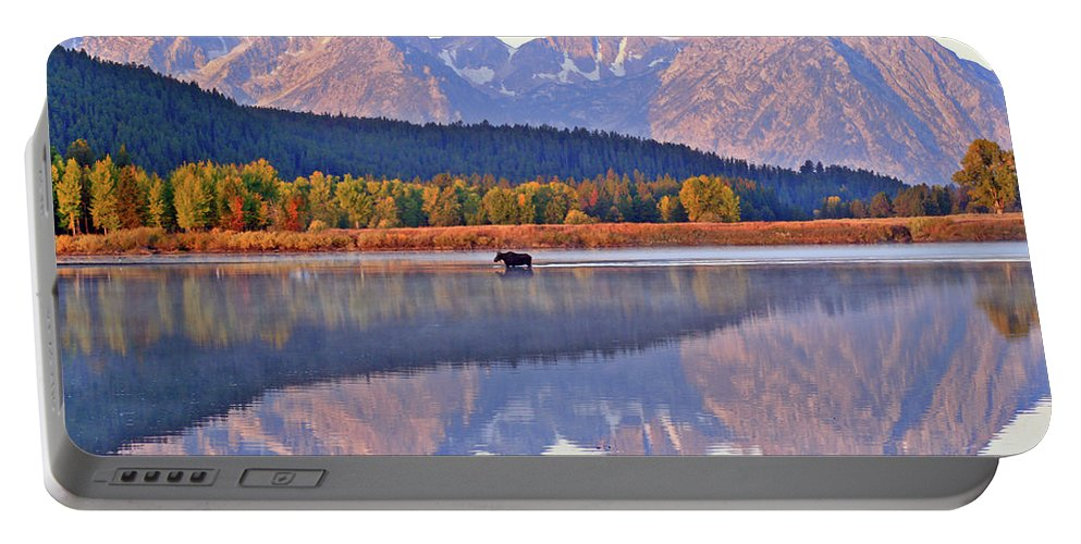 Mountain Portable Battery Charger featuring the photograph Grand Reflections by Scott Mahon