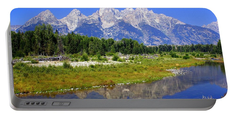 Grand Teton National Park Portable Battery Charger featuring the photograph Grand Tetons by Marty Koch