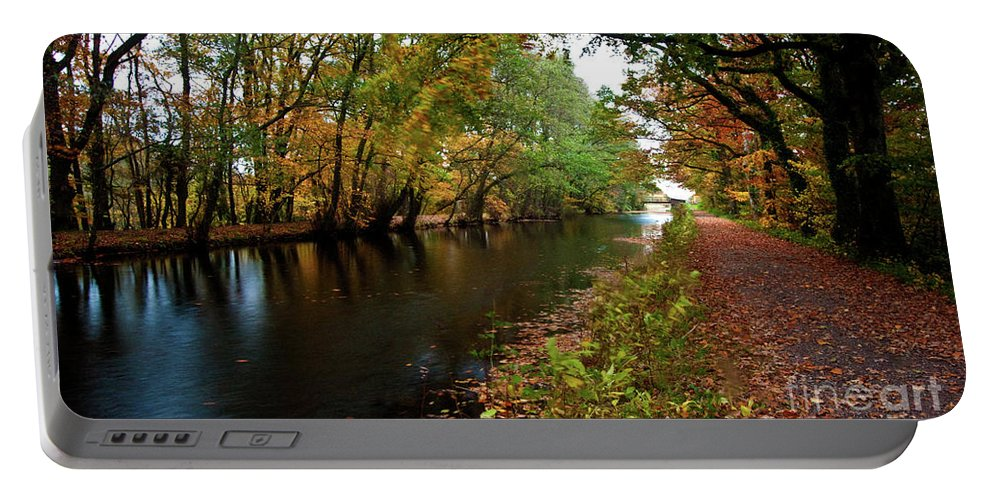 Grand Portable Battery Charger featuring the photograph Grand Western Canal At Westcott by Rob Hawkins