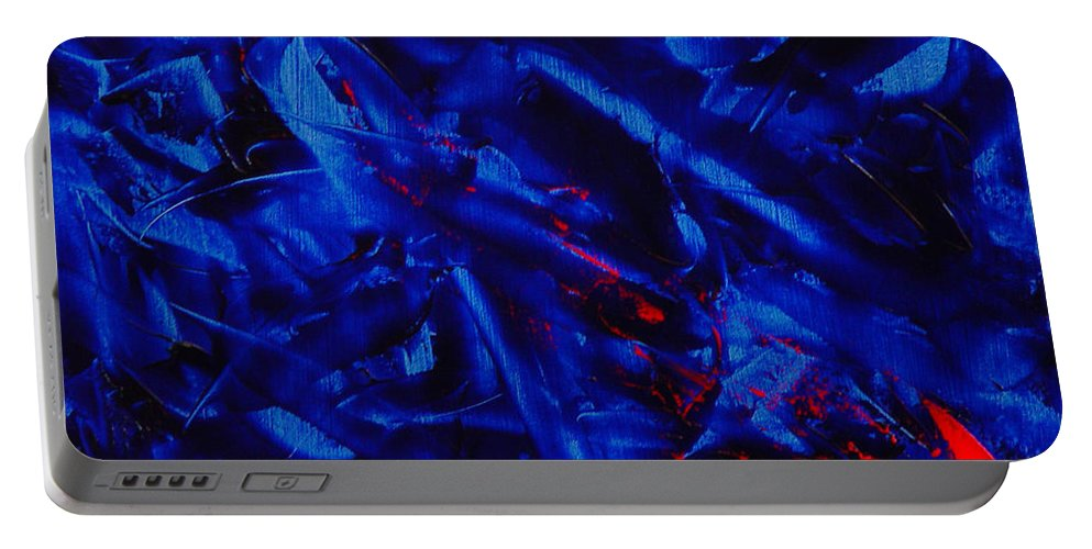 Abstract Portable Battery Charger featuring the painting Grandma IIi by Dean Triolo