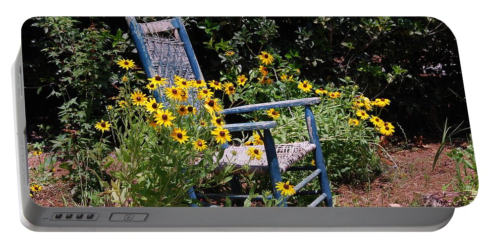 Rocking Chair Portable Battery Charger featuring the photograph Grandma's Rocking Chair by Susanne Van Hulst