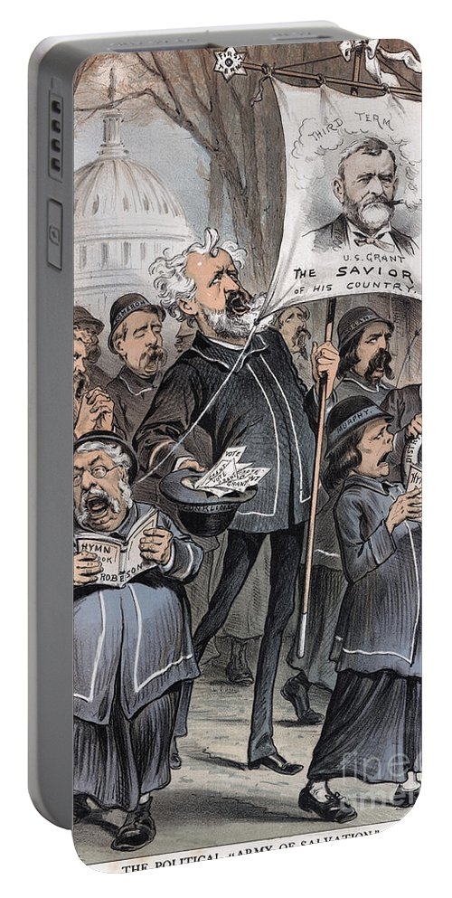 1880 Portable Battery Charger featuring the photograph Grant Cartoon, 1880 by Granger