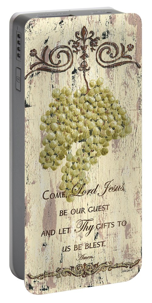 Grapes Portable Battery Charger featuring the painting Grapes and Grace 1 by Debbie DeWitt