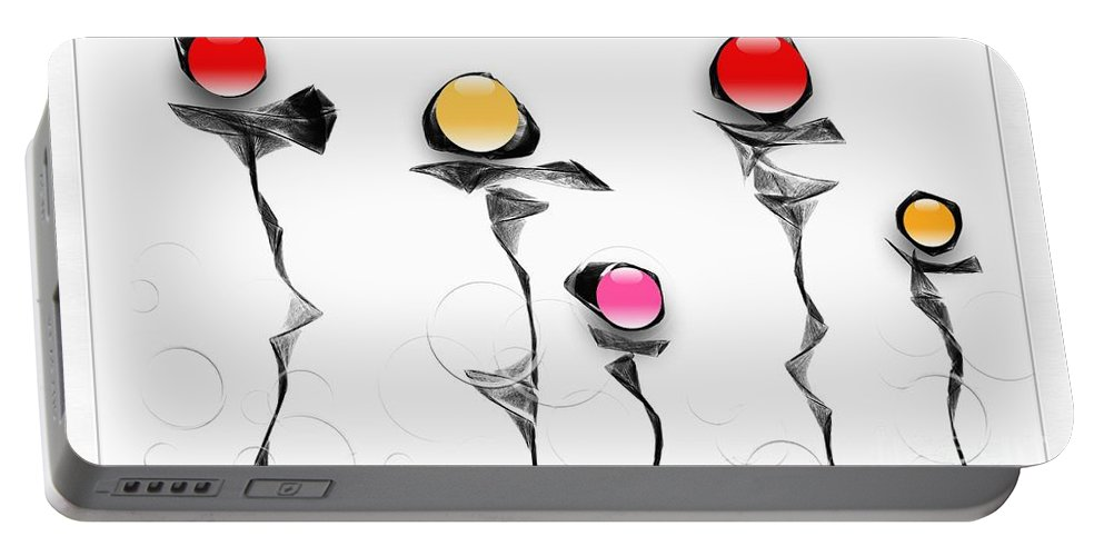 Abstraction Portable Battery Charger featuring the digital art Graphics 1609 by Marek Lutek