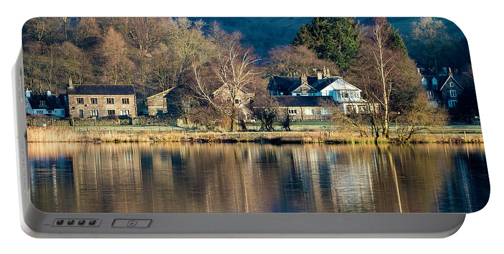 Grasmere Portable Battery Charger featuring the photograph Grasmere Shoreline by Russell Millner