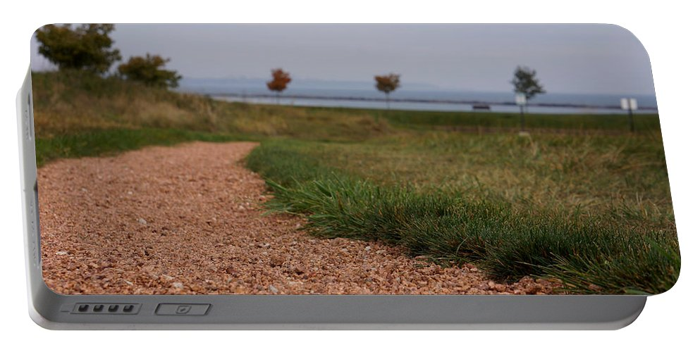 Gravel Portable Battery Charger featuring the photograph Gravel Path by Brooke Bowdren