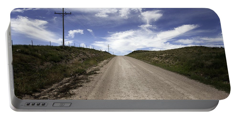 Gravel Portable Battery Charger featuring the photograph Gravel Road by Scott Sanders