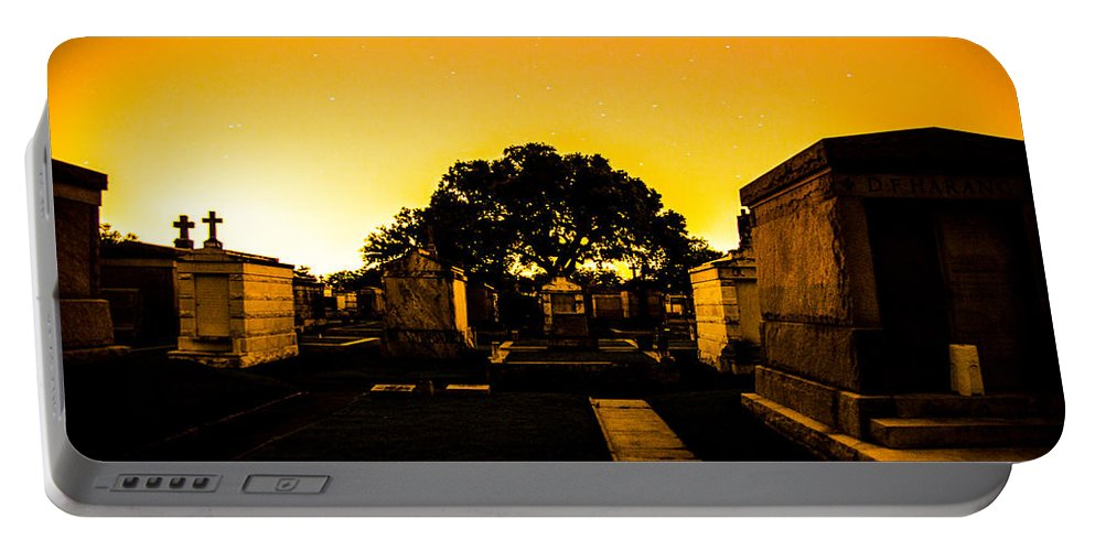 New Orleans Portable Battery Charger featuring the photograph Graveside Glow by Angus Hooper Iii